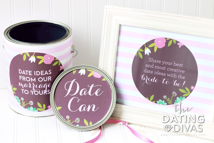 Bridal Shower Printables Date Ideas Can