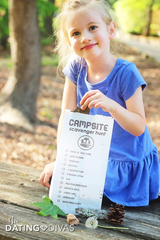 Camping Trip Scavenger Hunt for Kids