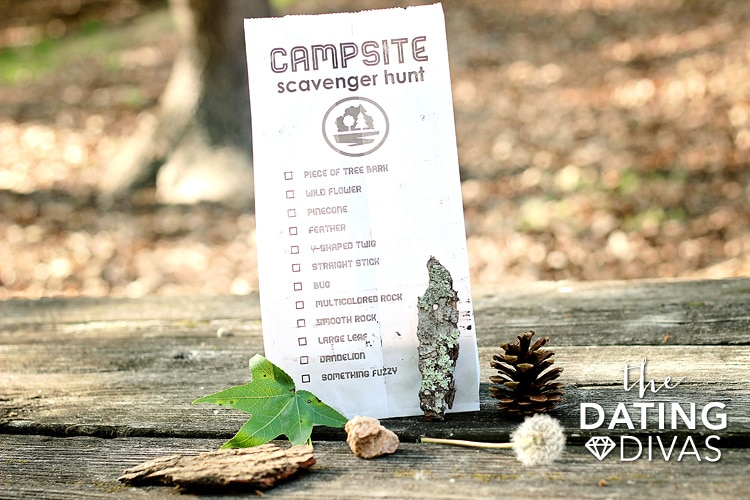 Camping Trip Scavenger Hunt