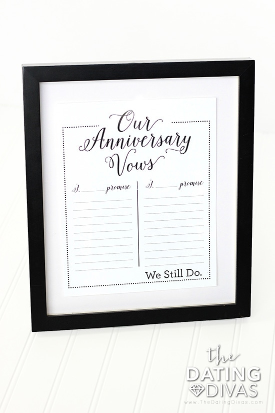 Vow Renewal Anniversary Idea