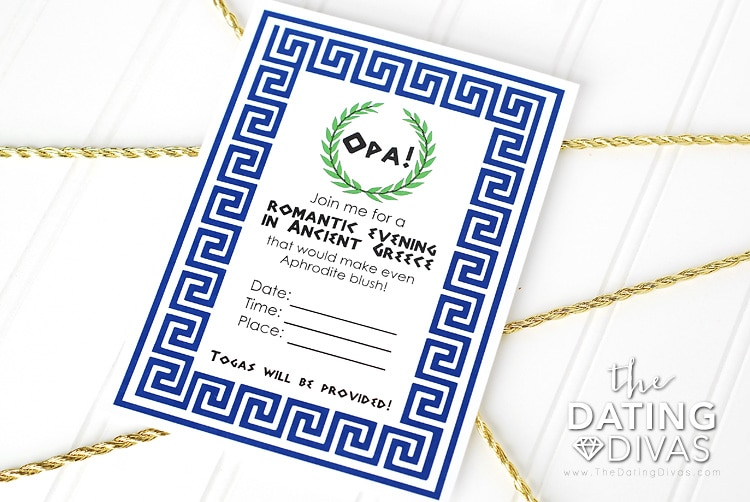 Greece Date Night Invitation