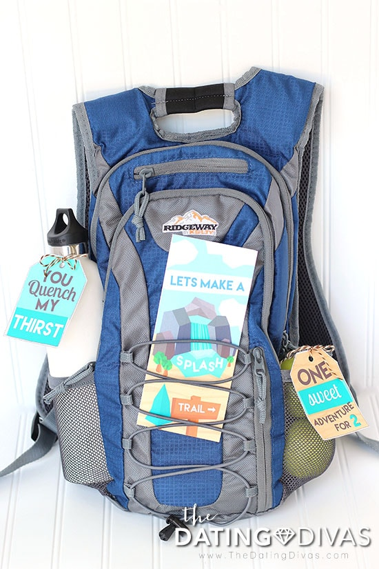 Hiking Date Invite and Backpack