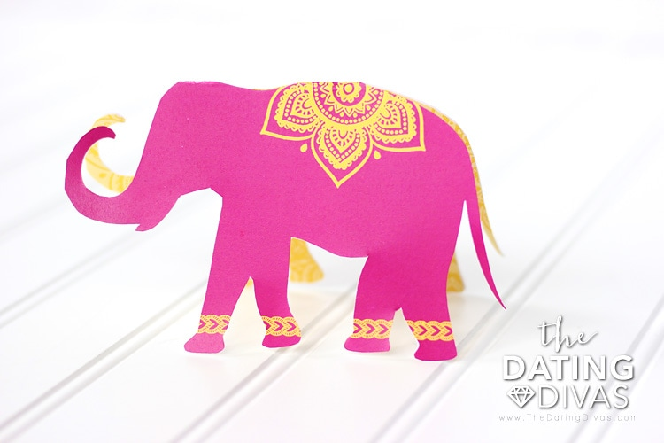India Date Night Elephant Invitation