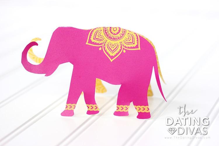 India Date Night Elephant Invitation