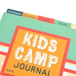 Kids Camp journal with tabs to keep organized.