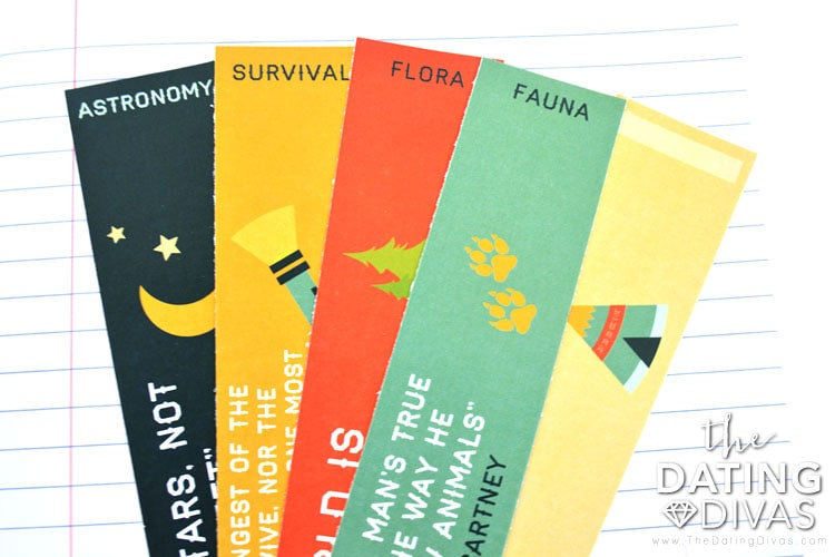 Kids Camp labels for journal organization.