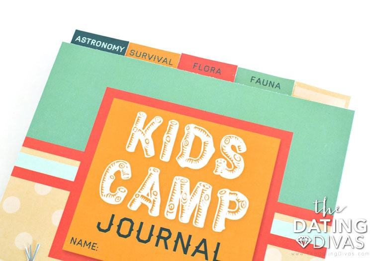 Kids Camp journal with tabs