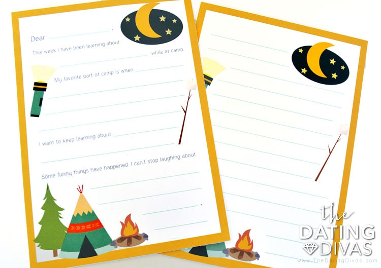 Kids Camp letters home