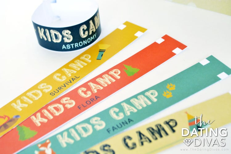 At home kids camp wristbands are the perfect choice!