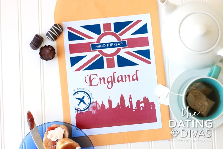 England Themed Date Passport Cover