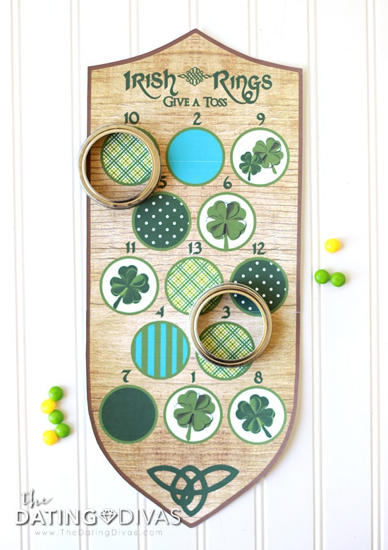 Ireland Themed Date Rings Game