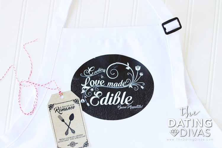 Italy Themed Date Iron-on Apron