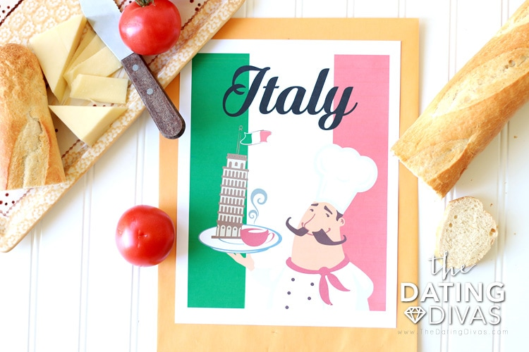 Italy Themed Date Cover