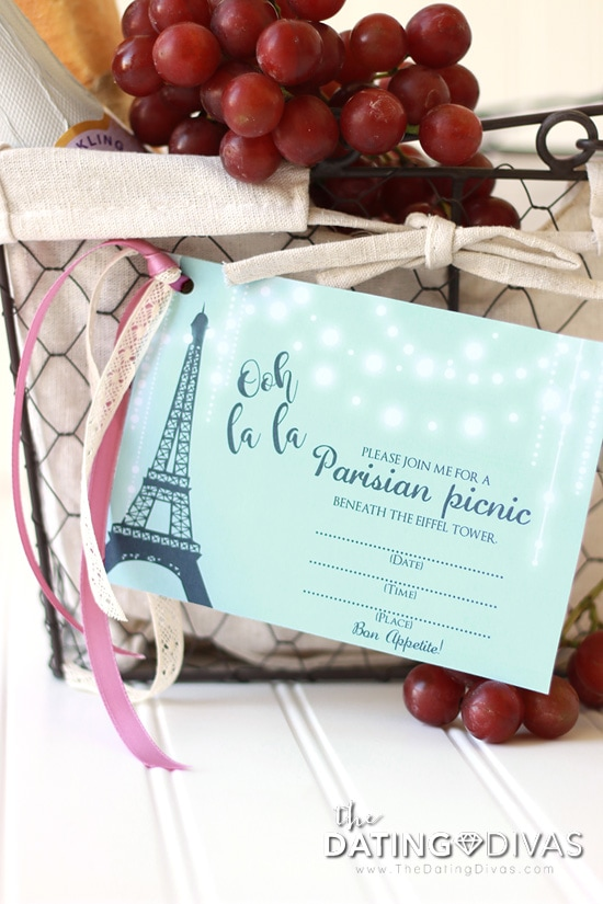 France Themed Date Picnic Basket