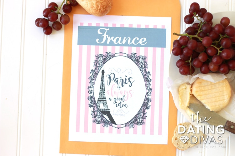 France Themed Date Invitation