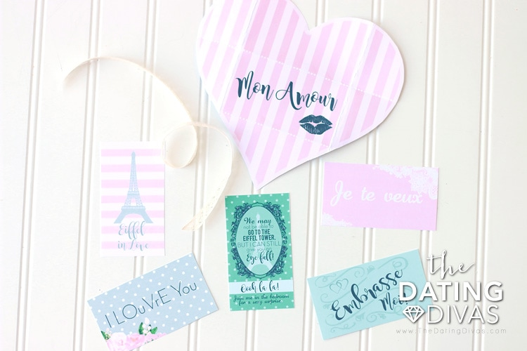 France Themed Date French Love Notes