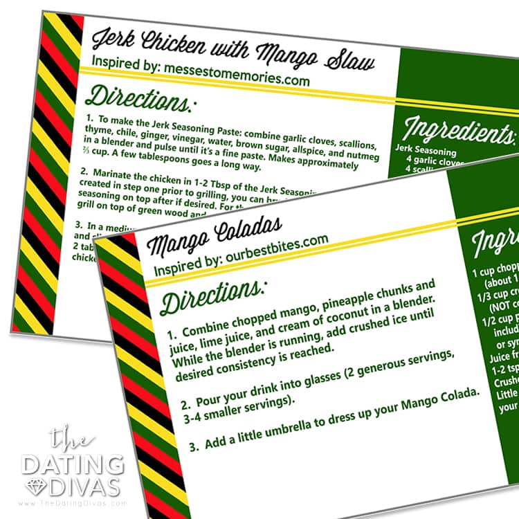 Jamaica Recipe Cards