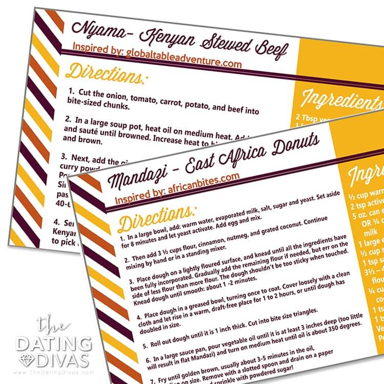 Recipe Cards Kenya