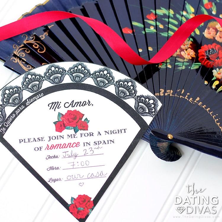 Spain Date Night Invitation