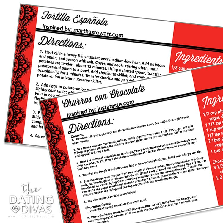 Spanish Recipe Cards