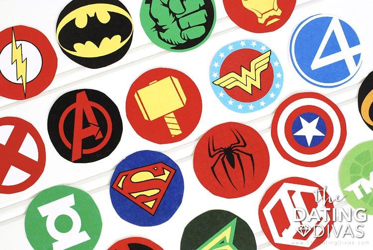 Superhero Movie Marathon Treat Topper Designs