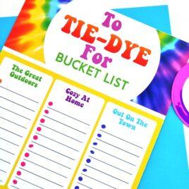 Tie Dye bucket list.