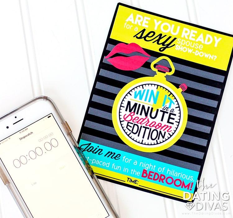 Win it in a Minute Sexy Games invitation