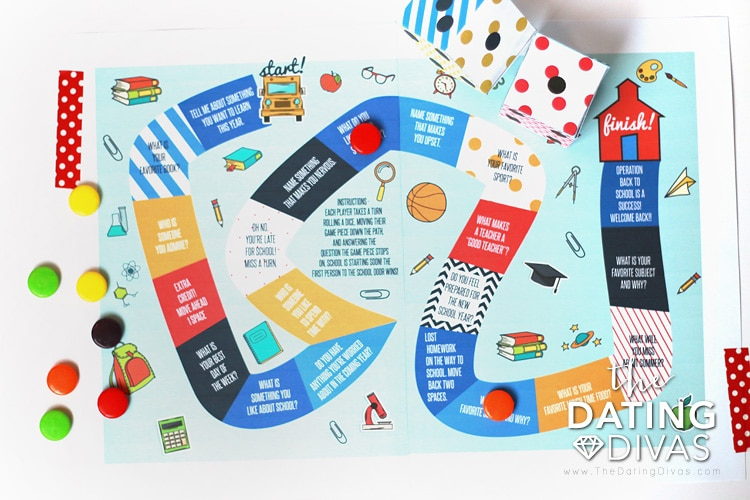 Back To School Shopping Date Board Game