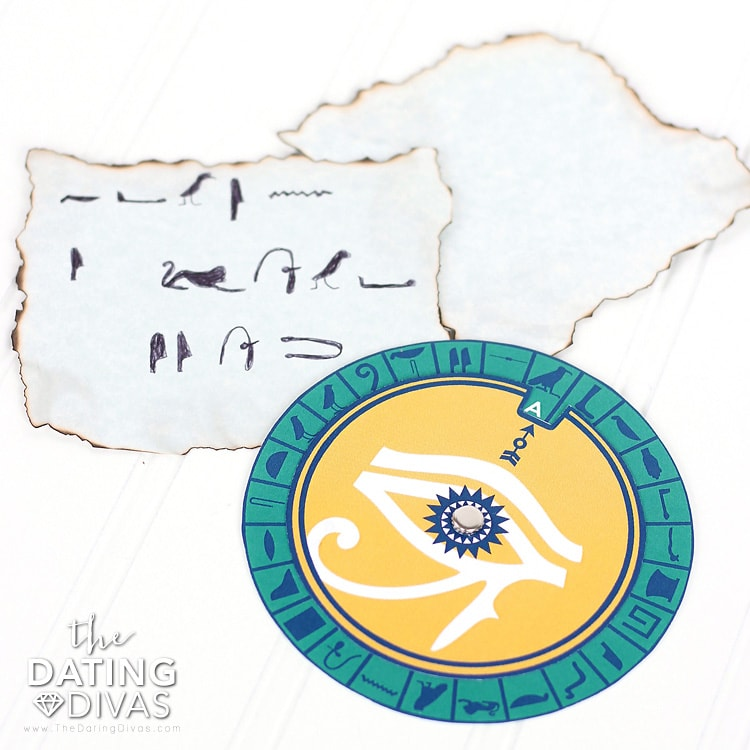 Egypt Date Hieroglyphic Love Notes