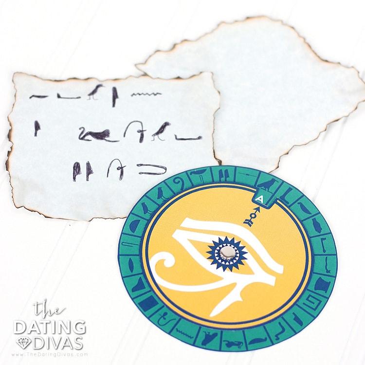 Egypt Date Hieroglyphic Love Notes