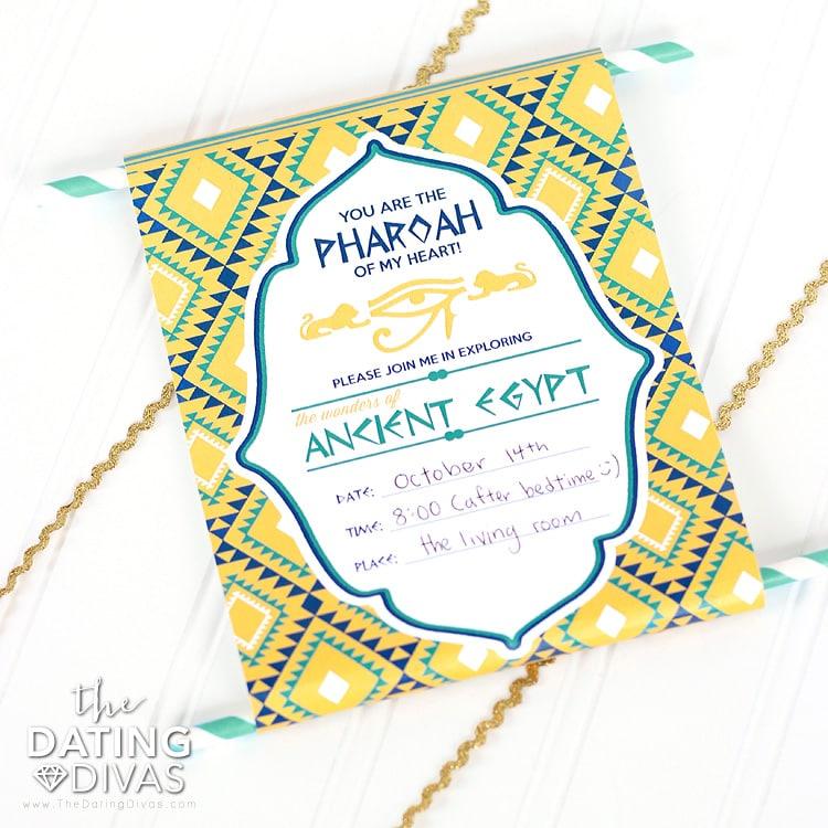 Egypt Date Invite