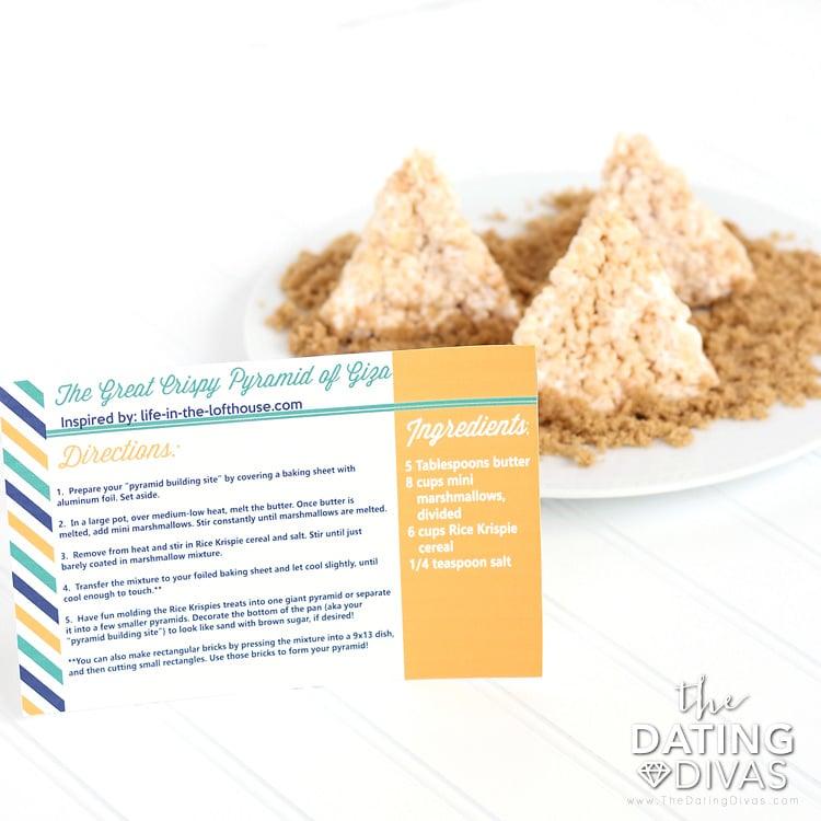 Egypt Date Rice Krispy Pyramids