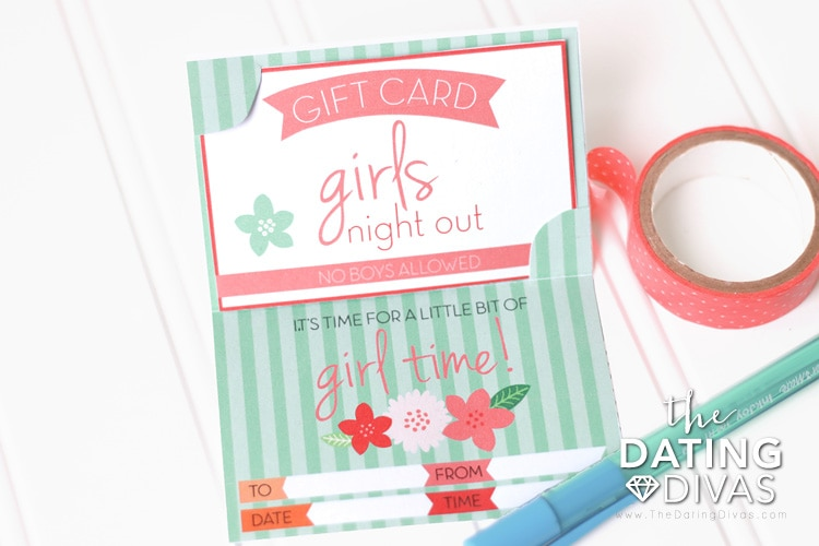 """These National Girlfriend's Day invitations have the cutest """"giftcard"""" to present to your girlfriends. 