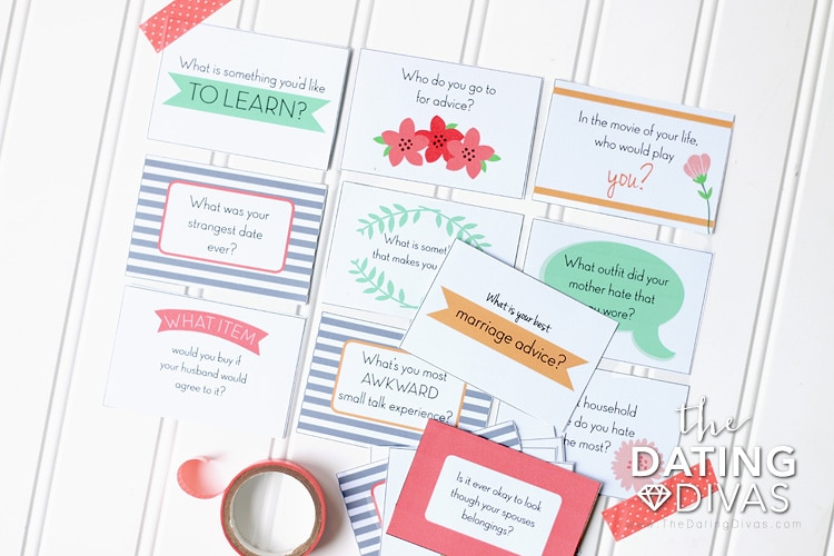 Girlfriends Day Question Cards