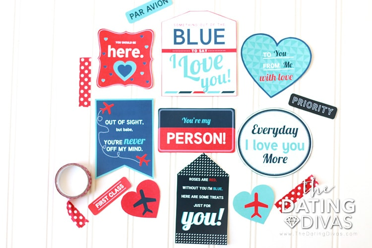 Long Distance Relationships Gift Tags