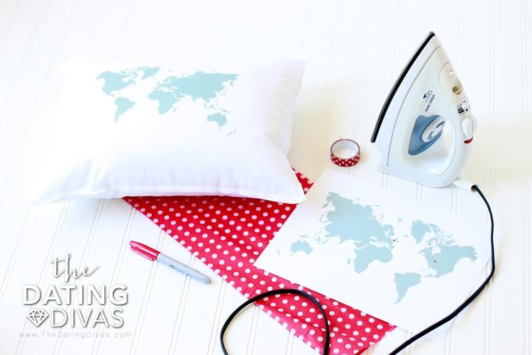 Long Distance Love Heart to Heart Pillow