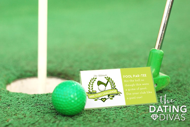 Mini Golf Date Night Idea Challenge Card