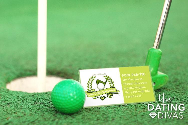 Mini Golf Date Night Idea Challenge Card