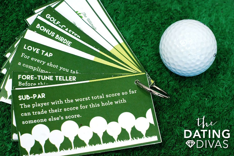 Mini Golf Date Night Idea Game Cards