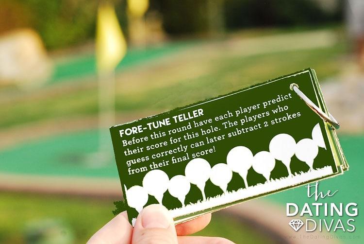Mini Golf Date Night Idea Game
