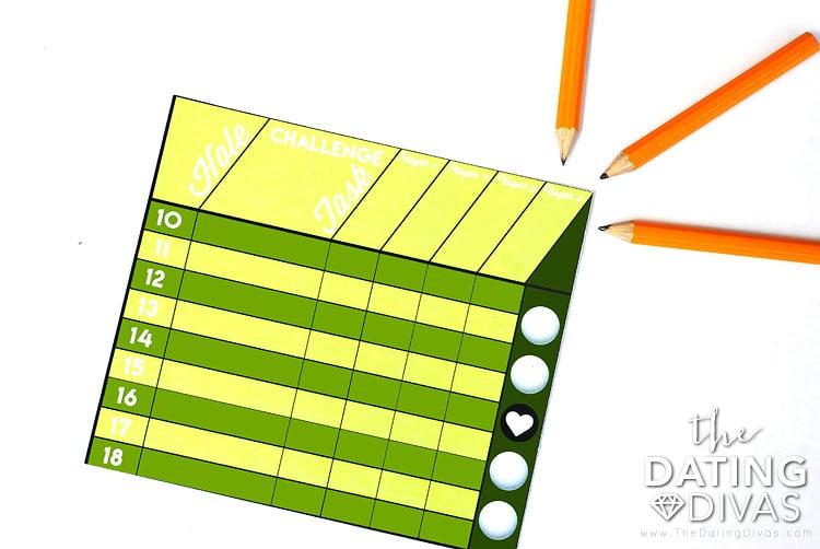 Mini Golf Date Night Idea Score Card