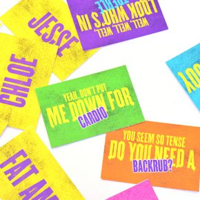 Quote Matching game for a Pitch Perfect date night.