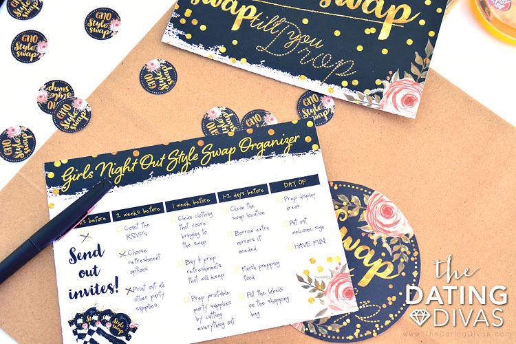 Organizational checklist for a style swap!