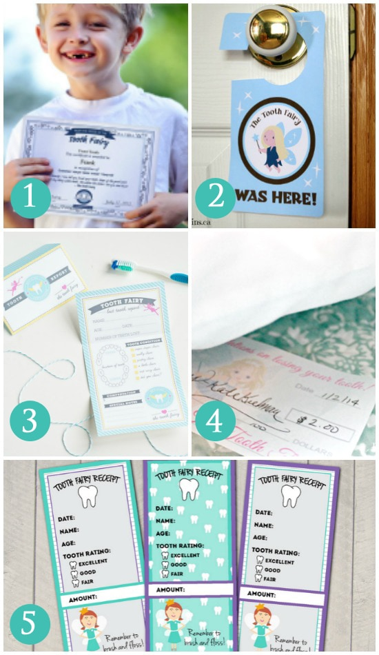 Printables for the Tooth Fairy