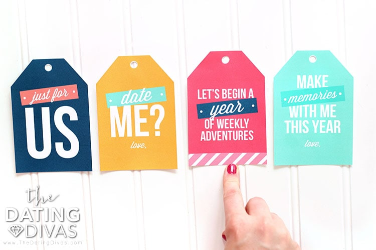 Weekly Date Night Ideas Gift Tags
