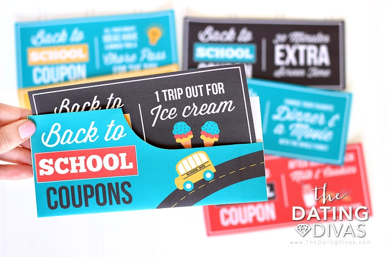 Back to School Coupon Envelope