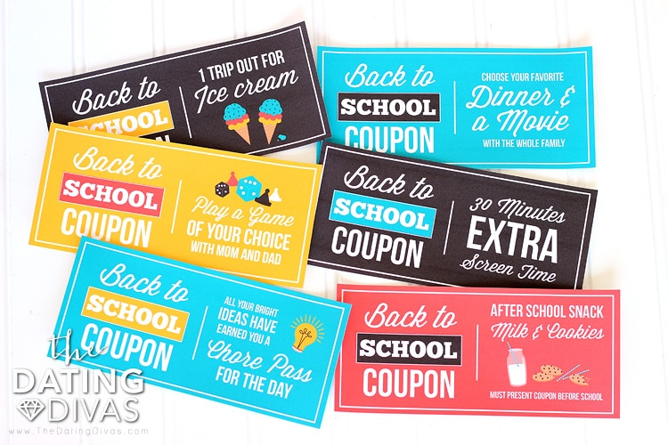 Back to School Coupon Idea