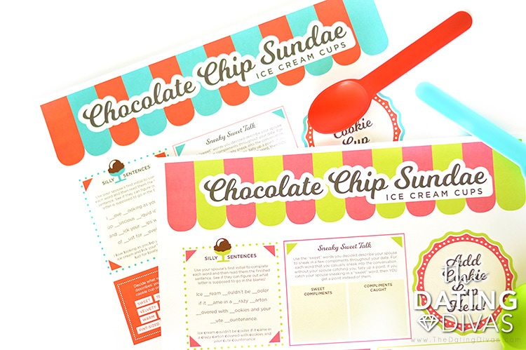 Chocolate Chip Sundae Ice Cream Cup Place Mats
