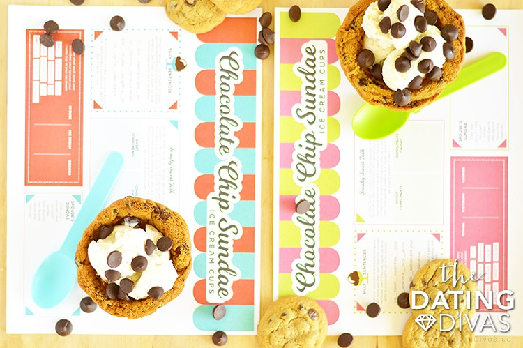 Cookie Bowl Ice Cream Sundaes