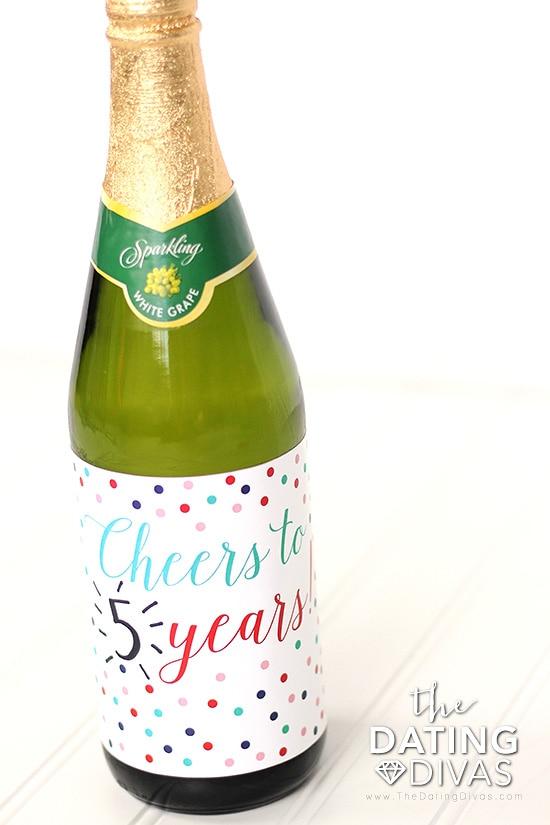 Anniversary Wine Bottle Label